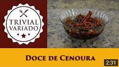 video receita doce de cenoura