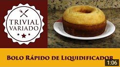 video receita bolo de liquidificador