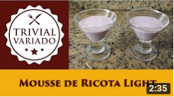 video receita mousse light de ricota