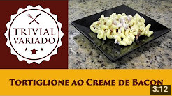 video receita tortiglione ao creme de bacon