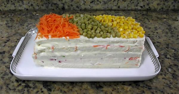 receita torta fria de vegetais